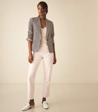 Reiss Connie Jacket - Slim Fit Checked Blazer in Multi
