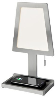 Nordium - Aluminium Charged Wireless Phone Charger & Table Lamp - Silver