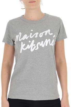 MAISON KITSUNÉ Handwriting Logo T-Shirt
