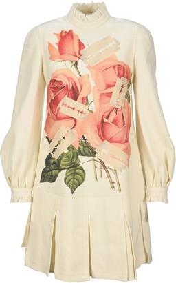 Undercover Printed Turtleneck Flared Dress
