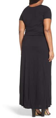Caslon Knit Drawstring Waist Maxi Dress