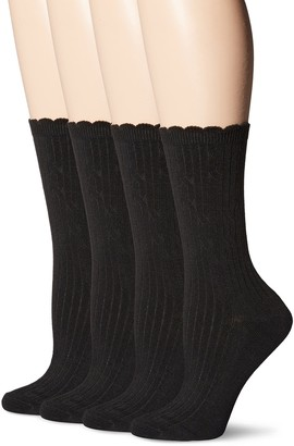 Peds Women's Classic Dress Crew Socks