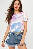 Missguided Pink Extreme Sequin Top