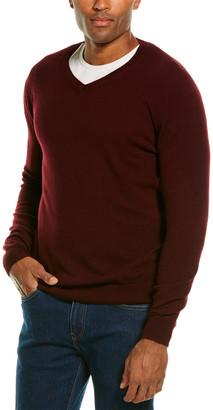 Forte Cashmere Classic Cashmere V-Neck Sweater