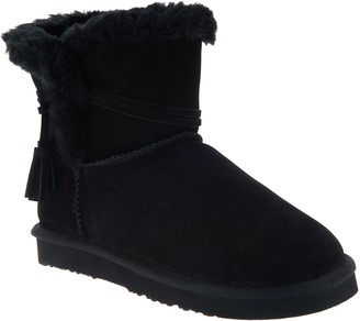 Lamo Water & Stain Resistant Suede Tassel Ankle Boots - Thalia