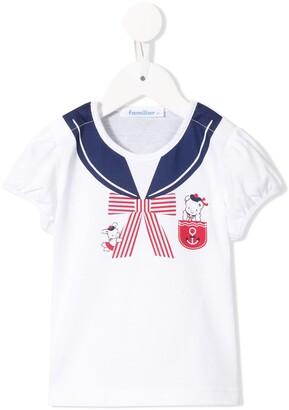 Familiar Nautical style short sleeve T-shirt