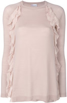 RED Valentino ruffle detail top - women - Silk/Spandex/Elastane/Virgin Wool - XS