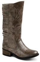 Stevies Girls' #HIGHFIVE Fringe Cowboy Boots - Silver