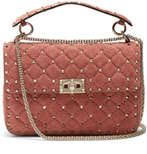 Valentino Rockstud Spike medium quilted-suede shoulder bag