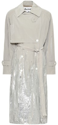 Acne Studios Coated cotton-blend trench coat