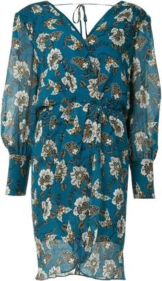 Derek Lam 10 Crosby Floral-Print Wrap-Style Dress