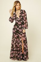 Forever 21 FOREVER 21+ Tiered-Hem Floral Maxi Dress