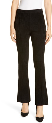 Adam Lippes Stretch Suede Kick Pants