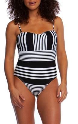 La Blanca Fine Line Bandeau One-Piece Swimsuit
