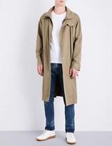 Maison Margiela Double-collar cotton-twill overcoat
