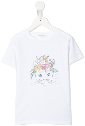 cat print relaxed fit T-shirt