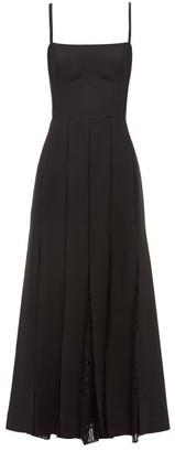 Gabriela Hearst Godard Knitted-godet Wool-blend Midi Dress - Black