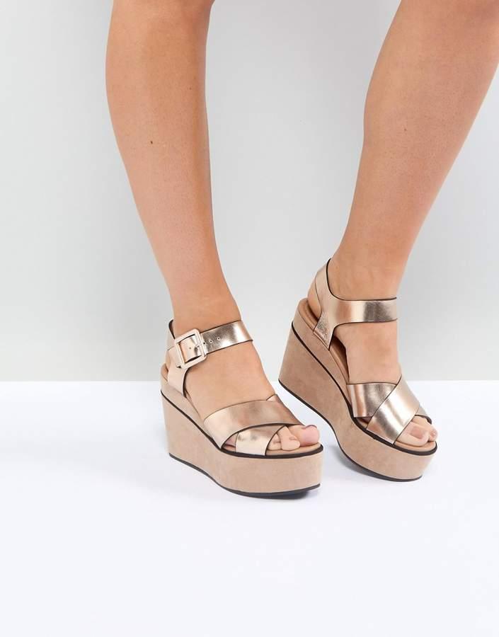 Asos DESIGN Tory wedge sandals