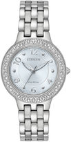 Citizen Womens Silver Tone Bracelet Watch-Fe2080-56l