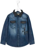 John Galliano stonewashed denim shirt - kids - Cotton - 4 yrs
