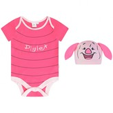 Disney BabyGirls Piglet Bodysuit With Hat