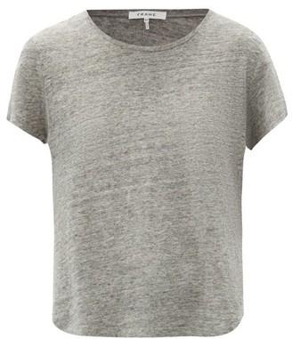Frame Slubbed Linen-jersey Crew-neck T-shirt - Grey
