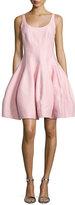 Halston Sleeveless Structured Fit & Flare Dress, Lotus