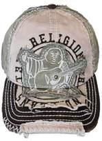 True Religion New Big Buddha Distressed Trucker Hat Cap / Tr