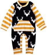 Bigban Newborn Baby Long Sleeve Clothes Bodysuit Romper Jumpsuit Playsuit Outfits (9-12 Months)
