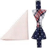 Alara Silk Jefferson Bow Tie & Pocket Square Set