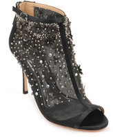 Badgley Mischka Olivia Embellished Satin Sandals