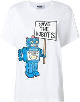 Jeremy Scott Save the Robots printed T-shirt