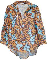 Tome floral print V-neck blouse