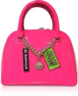 Versace Printed Logo Top Handle Bag w/ Charms