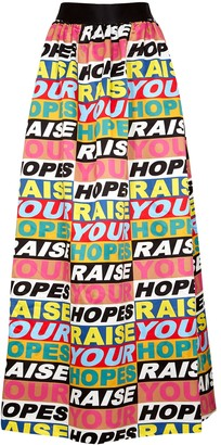 Alice + Olivia X Lakwena Tina printed satin maxi skirt
