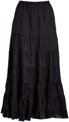 Raj Imports Women's Casual Skirts BLACK - Black Rebecca Peasant Skirt - Women