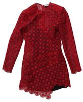 Self-Portrait Red Guipure Lace Dress