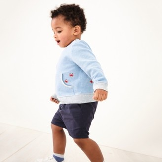 The White Company Summer Shorts, Blue, 0-3mths