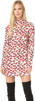 Just Cavalli Crazy Lips Print Dress