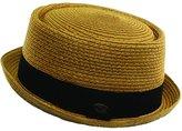 EPOCH HATS COMPANY Men's Cool Summer Straw Pork Pie Derby Fedora Upturn Brim Hat (S/M, )