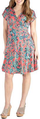 24/7 Comfort Apparel 24/7 Comfort Dresses Short Sleeve Knee Length Dress