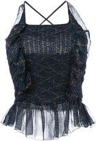 Etoile Isabel Marant frill-hem vest top - women - Silk/Viscose - 36