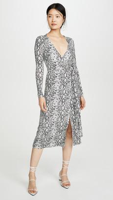 Good American Printed Wrap Dress