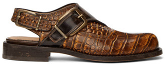 Dries Van Noten Brown Leather Monkstrap Shoes