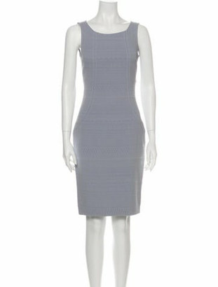 Dolce & Gabbana Scoop Neck Knee-Length Dress Purple