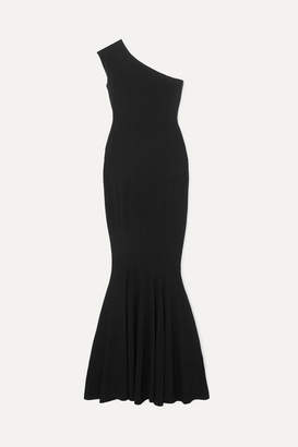 Norma Kamali One-shoulder Stretch-jersey Gown - Black