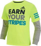 adidas Long-Sleeve Graphic-Print T-Shirt, Little Boys
