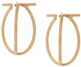 Salvatore Ferragamo Twisted Hoop Earrings