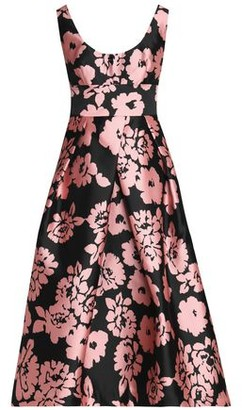 Milly Pleated Floral-print Twill Midi Dress