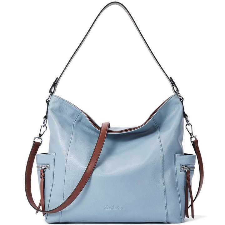 b64697e8b7fe BOSTANTEN Genuine Leather Hobo Handbags Designer Shoulder Tote Purses  Crossbody Large Bag for Women Light
